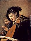 Frans Hals Wall Art - Two Boys Singing