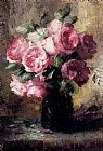 Vase Wall Art - Pink Roses In A Vase