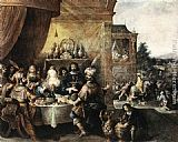 Frans the younger Francken - Feast of Esther
