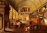 Frans the younger Francken - The interior of a picture gallery