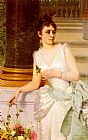 Green Wall Art - Portrait Of A Lady With A Green Satin Sash