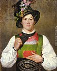 Franz Von Defregger - A Young Man In Tyrolean Costume