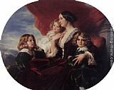 Children Wall Art - Elzbieta Branicka, Countess Krasinka and her Children