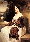 Franz Xavier Winterhalter Famous Paintings - Portrait of Madame Ackerman, the wife of the Chief Finance Minister of King Louis Philippe