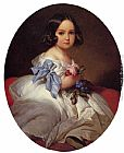 Franz Xavier Winterhalter Famous Paintings - Princess Charlotte of Belgium