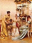 Frederic Soulacroix The Tea Party painting