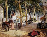 Frederick Arthur Bridgman Canvas Paintings - A Shady Street