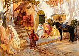 Frederick Arthur Bridgman Canvas Paintings - A Street in Algeria
