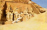 Frederick Arthur Bridgman Canvas Paintings - Abu Simbel