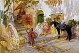 Frederick Arthur Bridgman Canvas Paintings - An Algerian Street