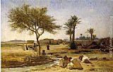 Frederick Arthur Bridgman Canvas Paintings - An Arab Village