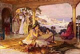 Frederick Arthur Bridgman Canvas Paintings - An Eastern Veranda