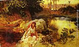 Frederick Arthur Bridgman Famous Paintings - At The Oasis