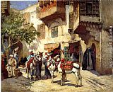Frederick Arthur Bridgman Marketplace in North Africa painting