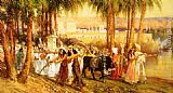 Frederick Arthur Bridgman Procession in Honor of Isis painting