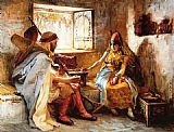 Frederick Arthur Bridgman The Game of Chance painting