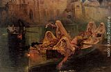 Frederick Arthur Bridgman Wall Art - The Harem Boats