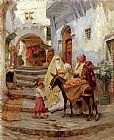 Frederick Arthur Bridgman Wall Art - The Orange Seller