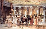 Frederick Arthur Bridgman The Procession of the Sacred Bull Anubis painting