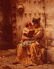 Frederick Arthur Bridgman Wall Art - The Reading Lesson