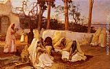Frederick Arthur Bridgman Wall Art - Women at the Cemetery, Algiers