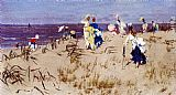 Beach Wall Art - Elegant Women On The Beach
