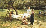 Frederick Morgan - An Apple-gathering