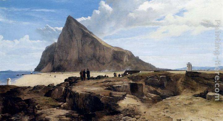 Frederick Richard Lee R.A The Rock Of Gibraltar