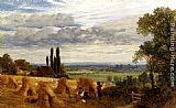 Frederick William Hulme - Harvesting Near Newark Priory, Ripley, Surrey