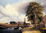 Frederick William Watts - The Lock At Stanton On The Little Ouse In Norfolk
