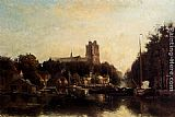 "Fredericus Jacobus Van Rossum Chattel - A view Of The ""Kleine Haven"" In Dordrecht"