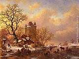 Frederik Marianus Kruseman - Skating in the Midst of Winter