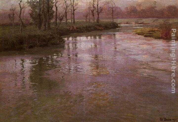 Fritz Thaulow On A French River
