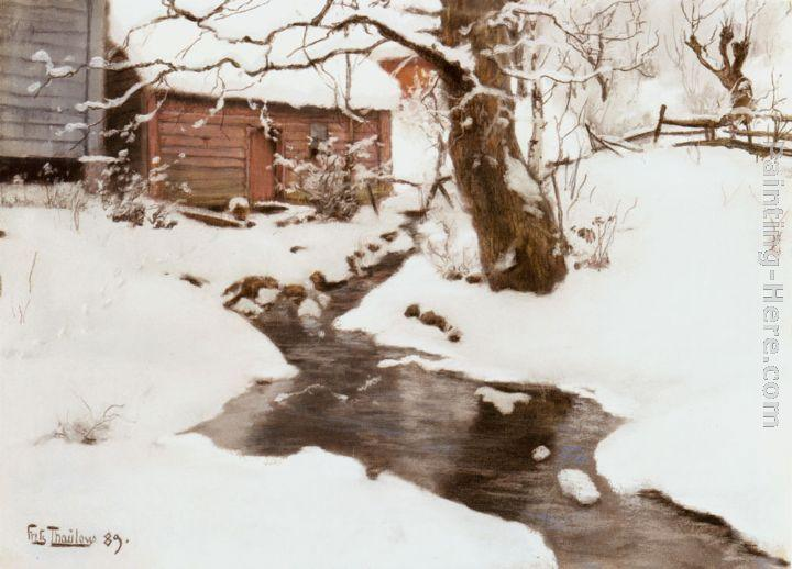 Fritz Thaulow Winter on the Isle of Stord