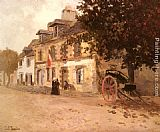 Fritz Thaulow A Village Street In France painting