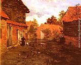 Fritz Thaulow After The Rain painting