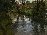 Fritz Thaulow On the Banks painting