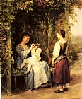 Fritz Zuber-Buhler Tickling the Baby painting