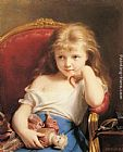 Fritz Zuber-Buhler - Young Girl Holding a Doll
