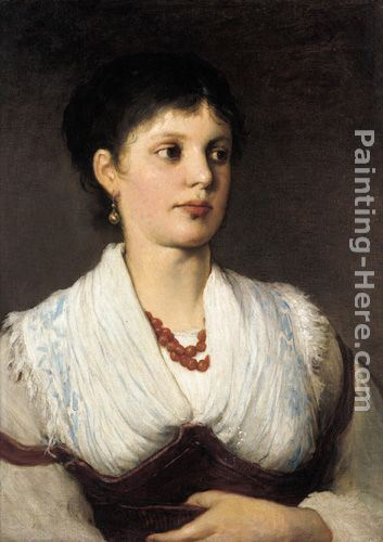 Gabriel Cornelius Ritter von Max A portrait of a woman in native costume