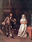 Gabriel Metsu - The Hunter's Gift