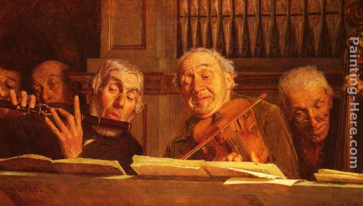 Gaetano Bellei Five Members of an Orchestra