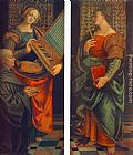 Gaudenzio Ferrari St Cecile with the Donator and St Marguerite painting
