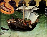 Storm Wall Art - Quaratesi Altarpiece St. Nicholas saves a storm-tossed ship