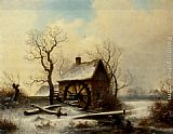 George Augustsus Williams - The mill in winter