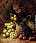 George Clare - Still Life with Apples, Grapes and Plums