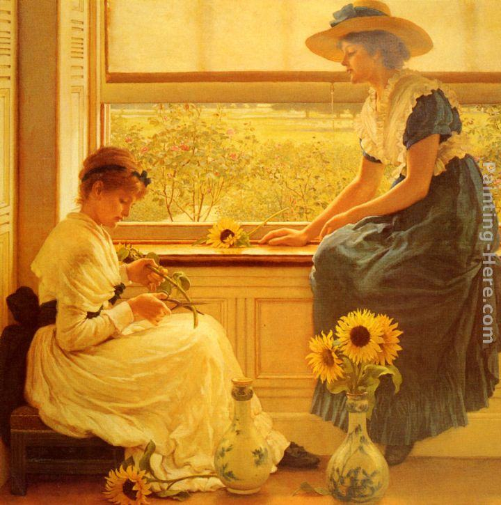 George Dunlop, R.A., Leslie Sun and Moon Flowers