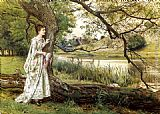 George Goodwin Kilburne - On The River Bank