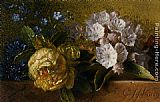 George Jacobus Johannes Van - Flowers on a Ledge