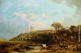 Famous Cattle Paintings - Cattle watering Windsor Castle beyond
